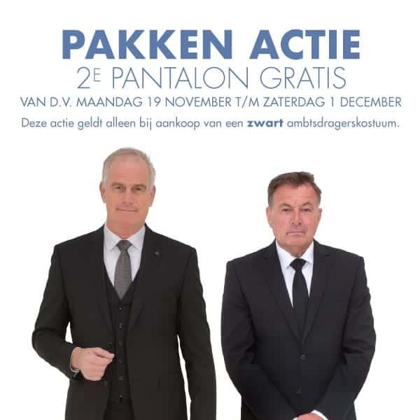Pakken actie: 2e pantalon gratis